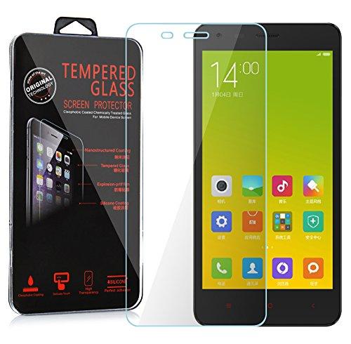 Preisvergleich Produktbild Cadorabo Panzer Folie für Xiaomi Red Mi 2A - Schutzfolie in KRISTALL KLAR Gehärtetes (Tempered) Display-Schutzglas in 9H Härte mit 3D Touch Glas Kompatibilität