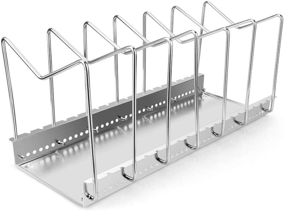 JPMELYRN Stainless Steel Adjustable Rack Limited time for free shipping Dish LidPan Max 67% OFF Pot Shelf