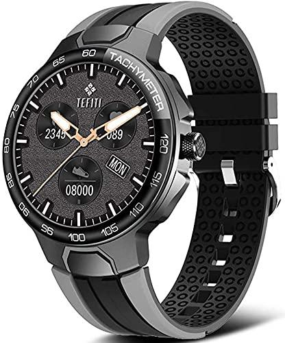 X&Z-XAOY Reloj Inteligente Reloj Deportivo Inteligente Hombres Inteligente Despertador Reloj Personalizado IP68 Reloj De Pulsera De Mujer Inteligente Impermeable (Color : Gray)