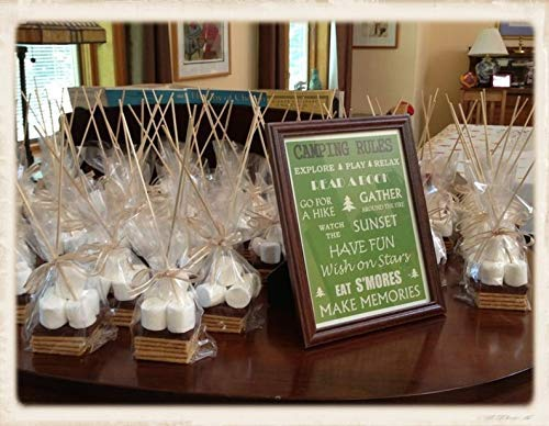 100 Smores Clear Party Favor Bags 4x2x8 Poly