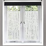 Finnez Window Film – for Privacy and Light Protection | Vinyl Sticker Film Creates a Frosted Glass...