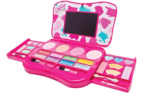 My First Makeup Set, Girls Makeup Kit, Fold Out Makeup Palette with Mirror and...