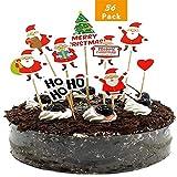 LIZHIGE 36 Pièces De Noël Topper de Petit Gâteau,Cupcake Toppers, pour Le Thème du Festival et la Fête d'anniversaire (Noël)