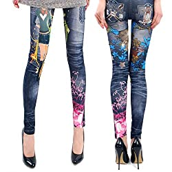 jeans multi color  leggings