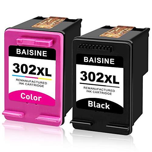 BAISINE 302XL Remanufactured für HP 302 302XL Druckerpatronen für HP Officejet 3830 3831 4650 4651 5230 Deskjet 1110 2130 2134 3630 3632 3634 Envy 4520 4522 4524 4527 4511 4512