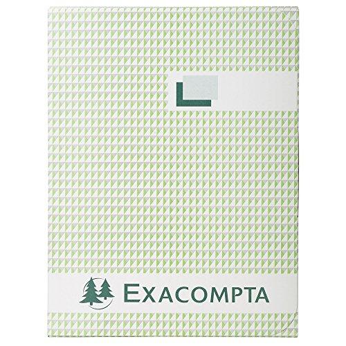 Exacompta 415E - Cuaderno (500 hojas, Negro, A4, 110 g/m², Papel cuadriculado, 210 mm)