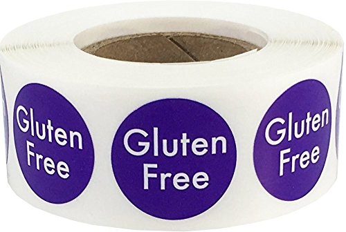 Gluten Free Food Rotation Labels .75 Inch Round Circle Dots 500 Adhesive Stickers