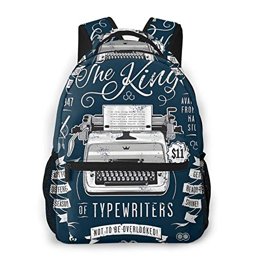 The King of Typewriters Casual backpack