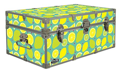 C&N Footlockers Designer Storage Trunk - Food Themes - 32 x 18 x 135 Inches - Durable and Built to Last - Lockable Lemon Lime