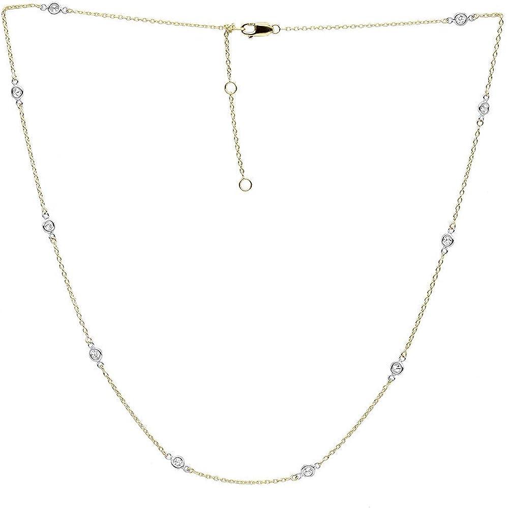 Boston Mall Luxurman Ladies 14k sale Gold Diamonds Yard Station Adjustable the By