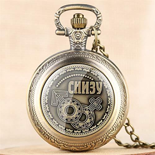 ZYZED Reloj de Bolsillo Reloj Antiguo de Cuarzo con Monedas Rusas Relo