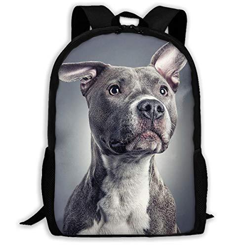 hengshiqi Mochila Backpack, Travel Backpack Laptop Backpack Large Diaper Bag - Pit Bull Dog Pet Design Backpack School Backpack for Women & Men