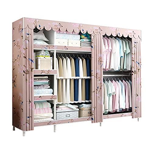LICHUAN Armario organizador de almacenamiento de armario, armario portátil, rápido y fácil de montar, extra resistente, resistente y duradero