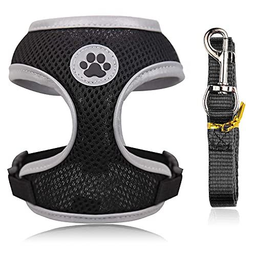 WONEIRA Hundegeschirr für Hunde Anti Zug Weich Gepolstert Atmungsaktiv Hundegeschirr Welpen Verstellbar Geschirr Hunde Brustgeschirr Ausbruchsicher Atmungsaktiv Hundegeschirr