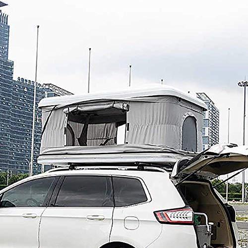 LMHX Autotent daktent, 2-3 volwassenen, waterdicht, ABS-schaal, caravan, met verlengkabel en ledverlichting