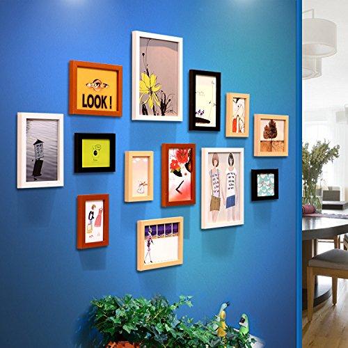 Unbekannt Le Décor est Moderne Salon Mural Photo Frame Photo Murale Combinaison de créatifs Home Clip hängend 13, Original Noir et Blanche Mix and Match Hu