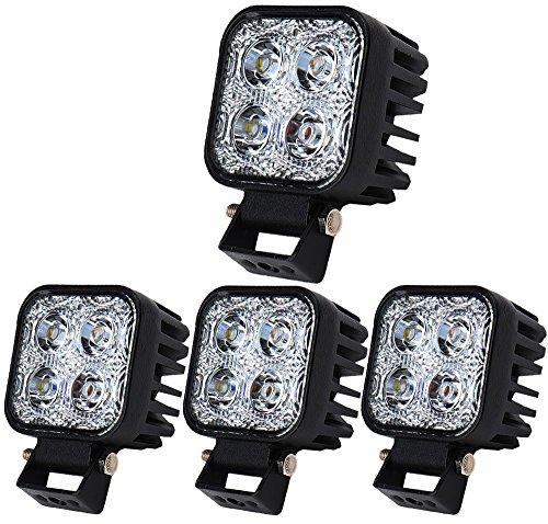 Himanjie® 4 Stück 12W LED Lampe Scheinwerfer kaltweiß Rücklicht für KFZ Arbeitsscheinwerfer wasserfest IP67