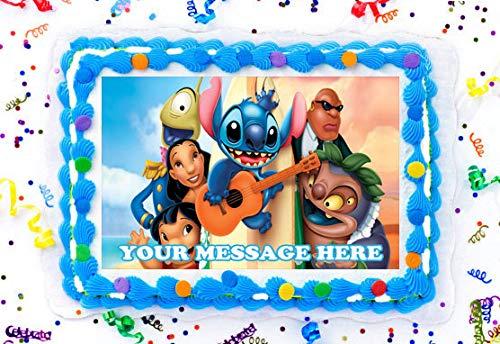 Edible Birthday Cake Topper OR Cupcake Topper Lilo /& Stitch Decor