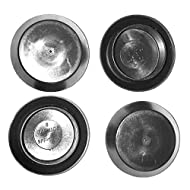 """(Lot of 25) SBDs 1-1/8"""" Flush Mount Black Plastic Body and Sheet Metal Plugs by CAPLUGS - Made in USA 