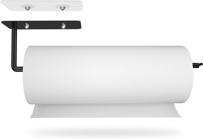 Ultra-Cheap Deals Snopower 1 year warranty Paper Towel Holder Under Cabinet Kitchen T Black