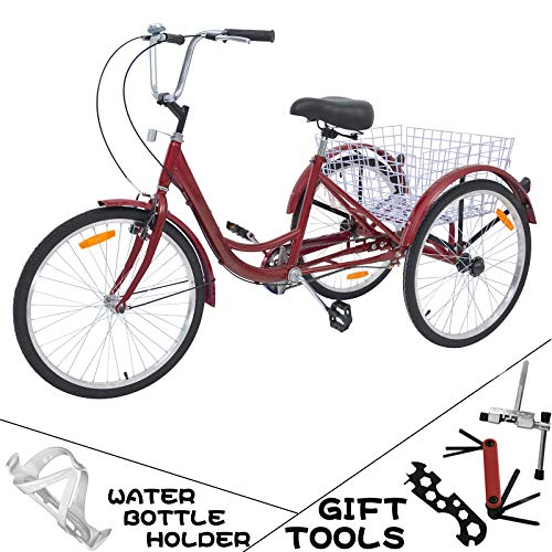 7 Best 3 Wheel Bikes For Seniors (Guide & Review) - VANELL 7/1 Speed Adult Tricycle