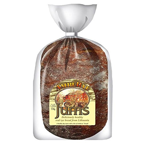 Lithuanian AmbeRye Jums Hearty Rye Bread - All Natural Whole Grain Imported Rye Bread, 19.5 z/550 g