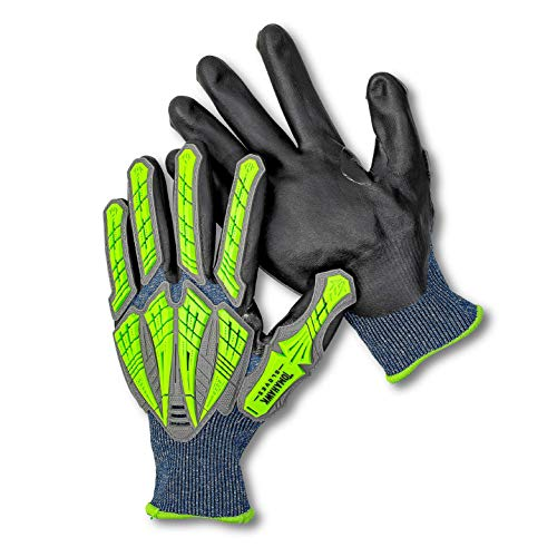 Tomahawk T2000 Touch Screen Impact Protection Gloves with Level 5 Cut Protection (Large)