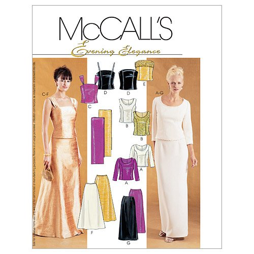 McCall 's Patterns M3436Misses '/Miss Petite gefüttert Tops, Röcke und Stola, Mehrfarbig, D (12-14-16)