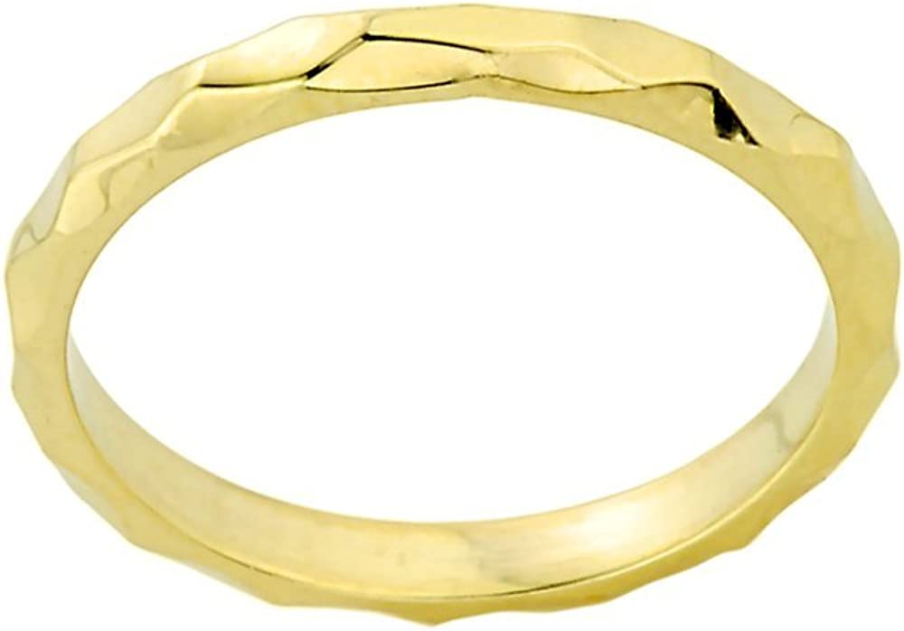 Stacking 14k Yellow Gold Sizable Spike Band Toe Ring