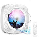 Gueray CD Player Portable Wall Mountable Bluetooth with Dust Cover Built-in HiFi Speakers