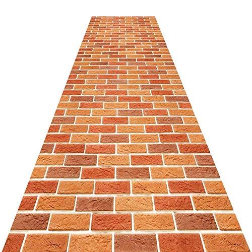 AJZXHE Teppich Hall Runner - Moderner Karierter Teppich orange - in verschiedenen Größen erhältlich Party-Teppich (Size : 80cm*5m)