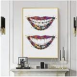 Cuadro de pared con diseño de dientes dentales, raíces de arte médico, incisivos molares, dentista, clínica, pintura en lienzo, Sin marco, 60x90cm(23.6 'x35.4')
