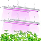 Grow Light, 2ft T8,100W(4 x 25W, 600W Equivalent), Super Bright, Full Spectrum Sunlight Plant Light, LED Grow Light Strips, Grow Lights for Indoor Plants,Greenhouse,4-Pack