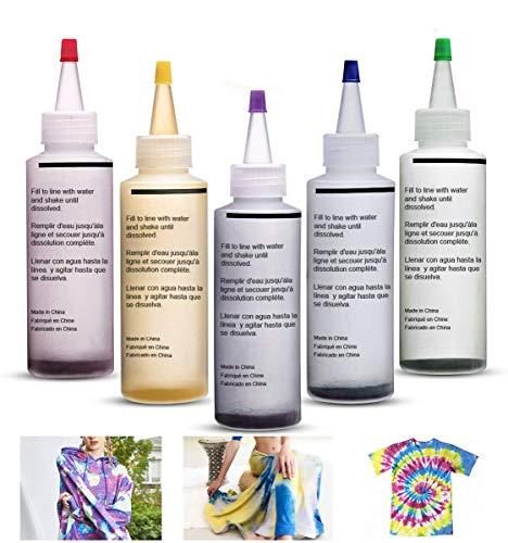Kit Tie-Dye, Pinturas Textiles de tela Kit Tie Dye Textiles de tela vibrante Colores de pintura permanente, Tinte de tela para camisa con bandas de goma, Cubiertas de mesa para amigos de la familia