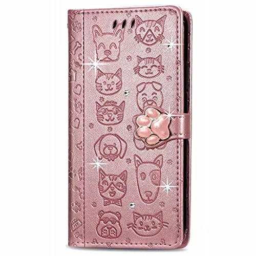 KRjcsfhy Funda Realme GT Master con diseño de mariposas, brillantes, a prueba de golpes, de piel sintética, con ranuras para tarjetas, cierre magnético de poliuretano termoplástico, color dorado rosa