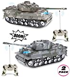 Mozlly Remote Control Tanks with Lights & Sound Effects Set -...