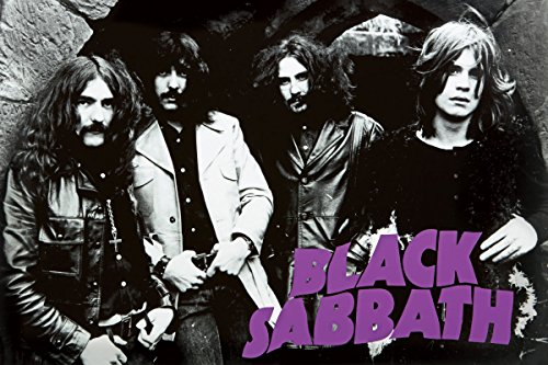 Black Sabbath/Early Group Pic Early Group B/W Horiz Poster Drucken (91,44 x 60,96 cm)