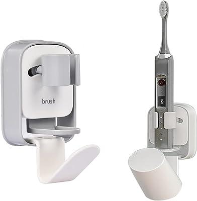 電動歯ブラシホルダー置いて取り付けるだけ歯ブラシホルダー歯ブラシホルダー歯ブラシホルダー自動クランプ重力クランプ速乾性抗菌省スペーステープバスルームを掃除する(グレー*1)