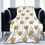 Tvsuh-u Throw Blanket, Pretzel Food Fleece Blanket for Men Women Adults Lightweight Warm Sherpa Flannel Bed Blanket for Couch Bed Sofa All Seasons 50' X40