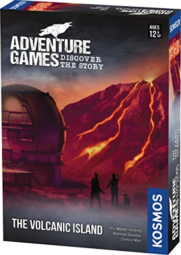 Thames & Kosmos 695133 -Adventure Game: The Volcanic Island| Discover The Story | Cooperative Board Game, 1-4 Players | Ages 12+ |