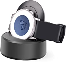 Pebble Time Round Charger Cable Charging Stand,Itian Charging Dock Station Cradle Holder Charging Cable for Pebble Time Round-Black