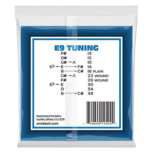 Ernie Ball pedal de acero de 10 cuerdas E9 Tuning de acero inoxidable cuerdas de guitarra eléctrica