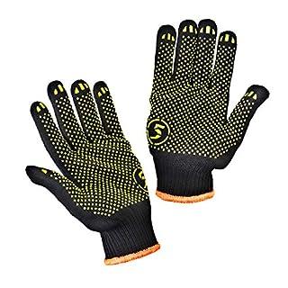 scheda stark 10 paia guanti da lavoro con presa antiscivolo antiscivolo pvc, 10 paia. per edilizia, autofficina, casa, pittura, montaggio