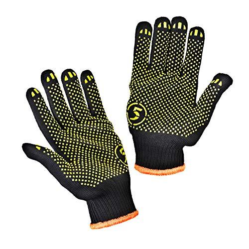 STARK Rutschsichere Strickhandschuhe mit PVC-Noppen, 10 Paar aus 60% Baumvolle und 40% Polyester, Gr. L/10, geeignet für den privaten und gewerblichen Gebrauch
