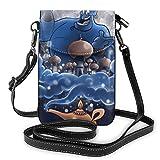 Stampa della lampada di Aladin della borsa del telefono cellulare delle borse della piccola Crossbody con le fessure della carta di credito