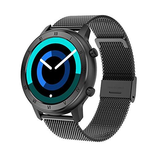 Touch Touch Full Smart Watch Mujeres IP68 Pulsera Impermeable ECG Monitor de Ritmo cardíaco Monitoreo de sueño Deportes SmartWatch para Damas (Color : Mesh Black)