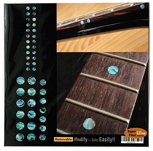 Pegatinas incrustadas marcadores de trastes para guitarras y bajos – Custom Dots Set – Abalone Blue,F-085CD-BL-AZ