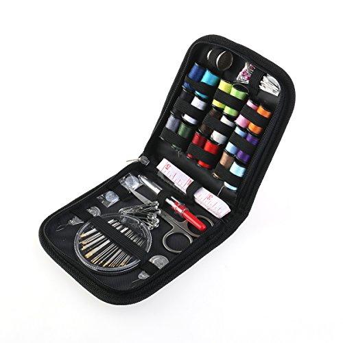 ROSENICE Nähen Zubehör Set Reise Nähzeug 58pcs Nähzubehör Nadeln Thread Scissors Set mit Reißverschluss Tasche