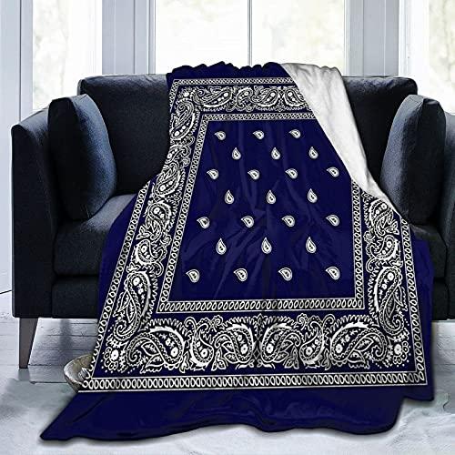 CSDGHRHX Manta de vellón súper Suave y Liviana Bandana Blue Se Utiliza para sofá Cama y Manta de Reserva de Viaje 125cmX100cm.