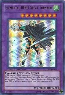 Yu-Gi-Oh! - Elemental HERO Great Tornado LC02-EN010 Ultra Rare - GX Legendary Collection 2